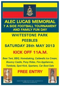 Alec Lucas Memorial Tournament – 25 May 2013