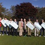 Alec Lucas Memorial Trust presents cheques to local sports club and the army