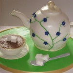 Cake in the shape of a teapot