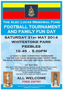 Alec Lucas Memorial Football Tournament and Family Fun Day – 31 May 2014