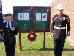 Dedication of Community Noticeboard, Brixington