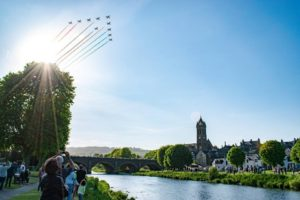 Red Arrows mark the end of 8 years of fundraising
